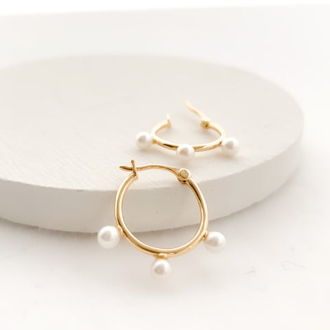 pearl hoop pierces
