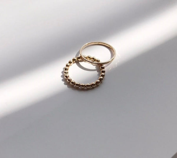 dot  ring / k14gold filled