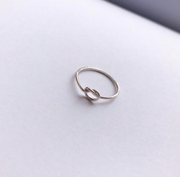 knot ring / silver925