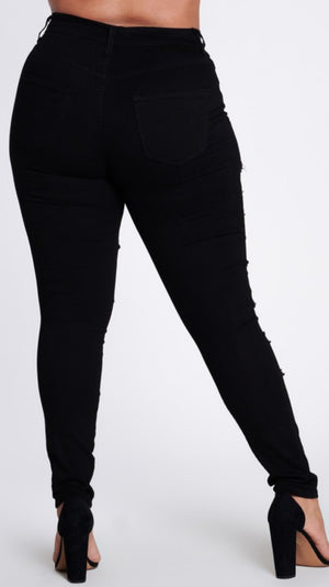 Stretching Me Thin Distressed Plus Size Jeans