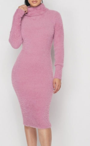 Fuzzy Navel Furry Dress
