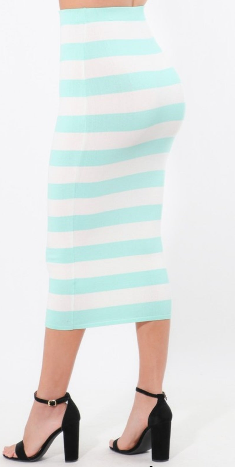 Earned My Stripes Midi Skirt