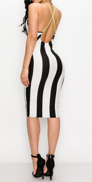 Beetlejuice Midi Dress