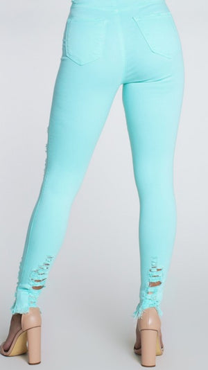Mint To Be High Waist Jeans