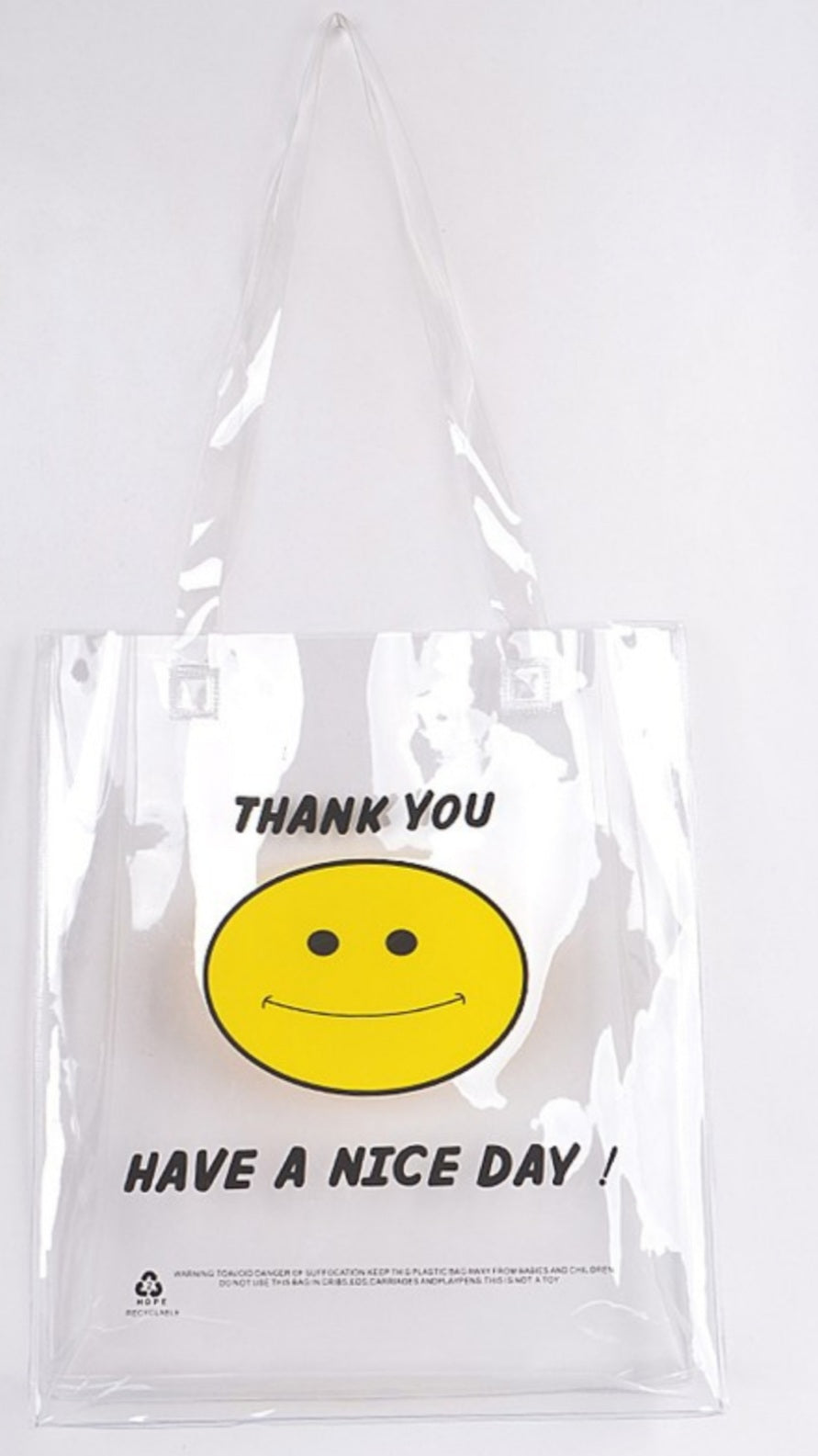 Smile Transparent Shoulder Bag
