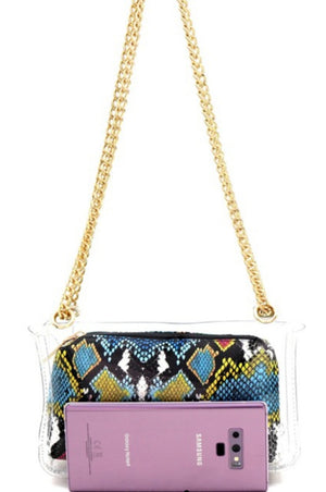 See My Snakeskin Shoulder Bag