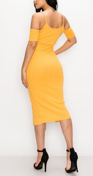 Golden Bomb Fitted Dress