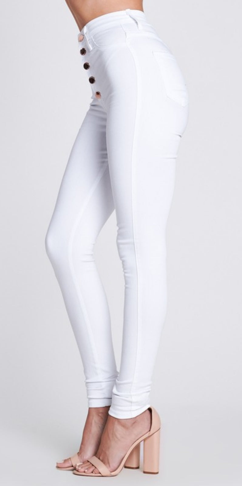 White Wash High Waist Jeans