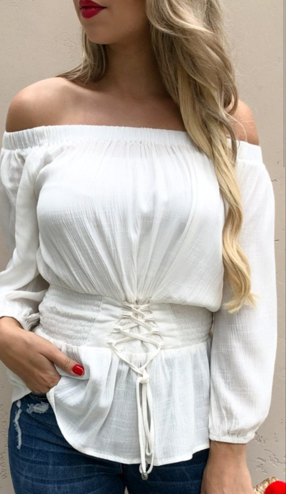 Top Off Shoulder Shirt