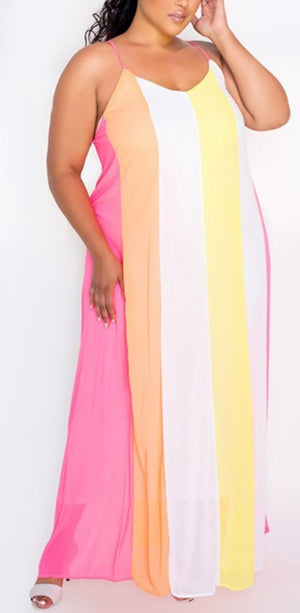 Lite Bright Plus Size Maxi Dress