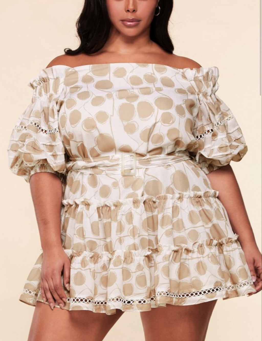 I'm Tanned Plus Size Swing Dress