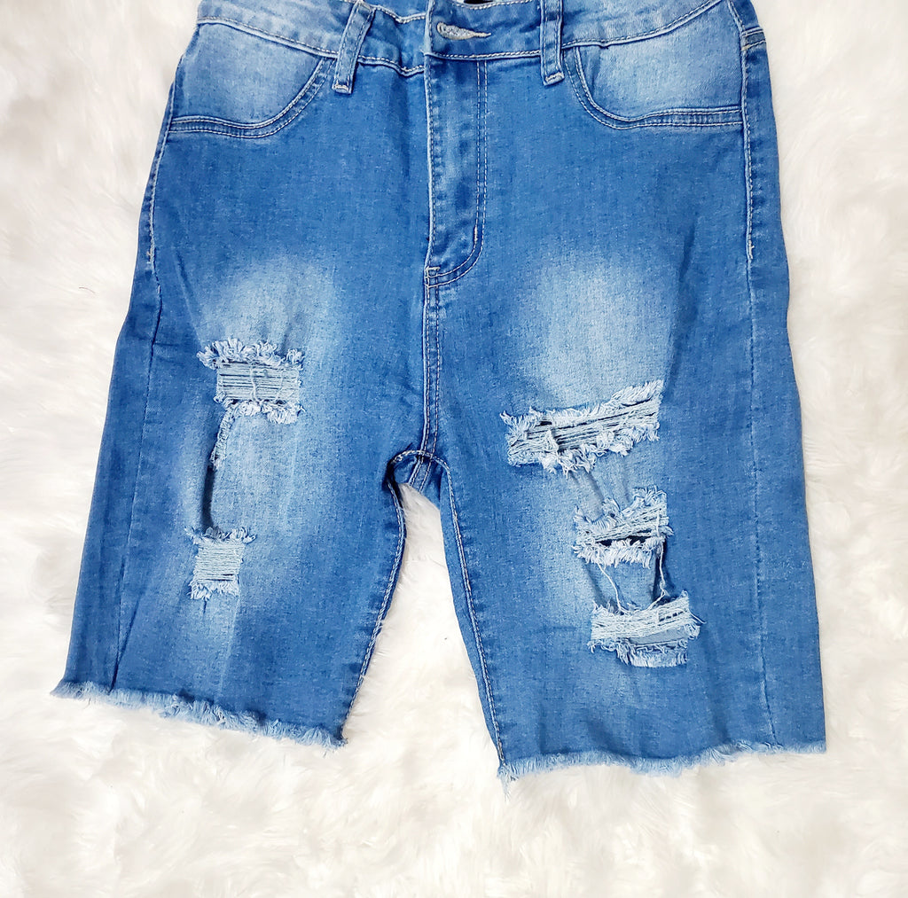 Distress Me Out Denim Shorts