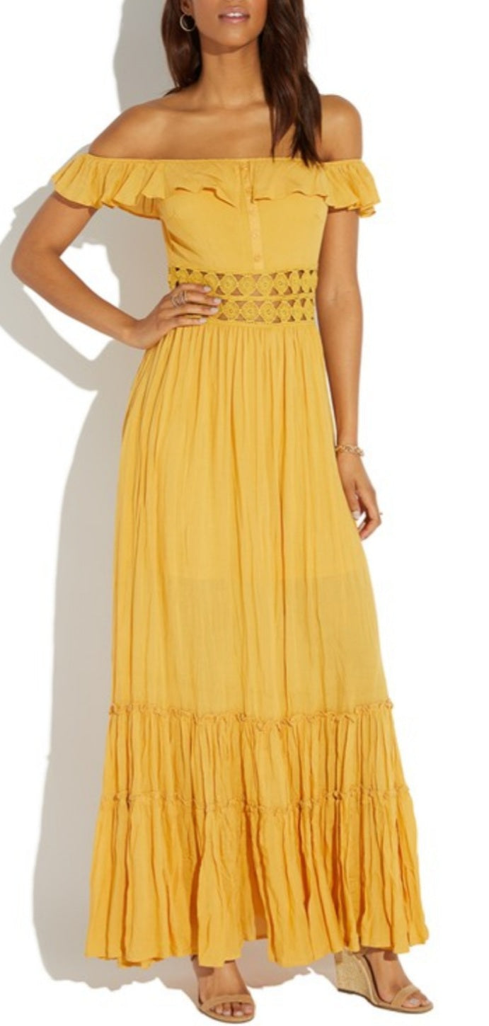 Ruffle My Feathers Maxi Dress