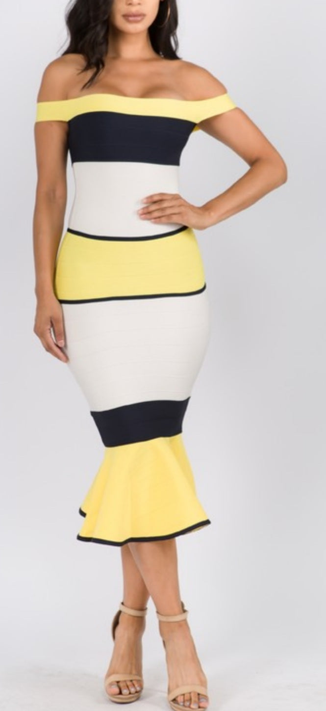 Banana Boat Bandage Dress