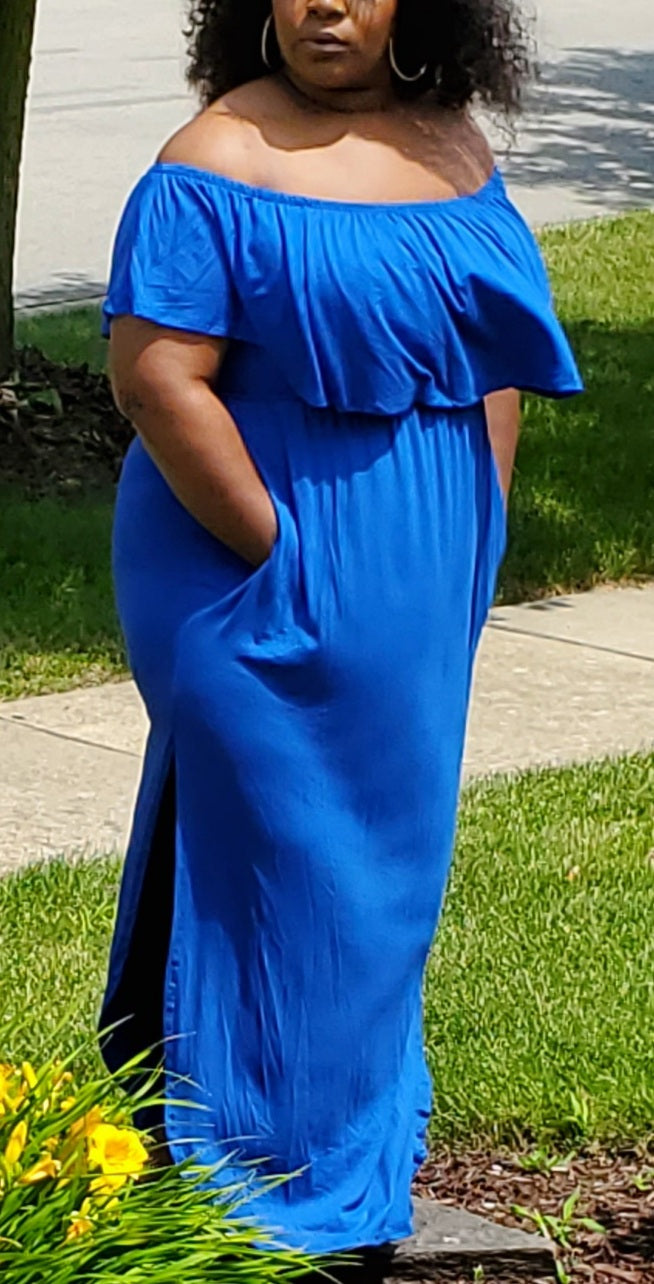 Blue Waters Plus Size Maxi Dress