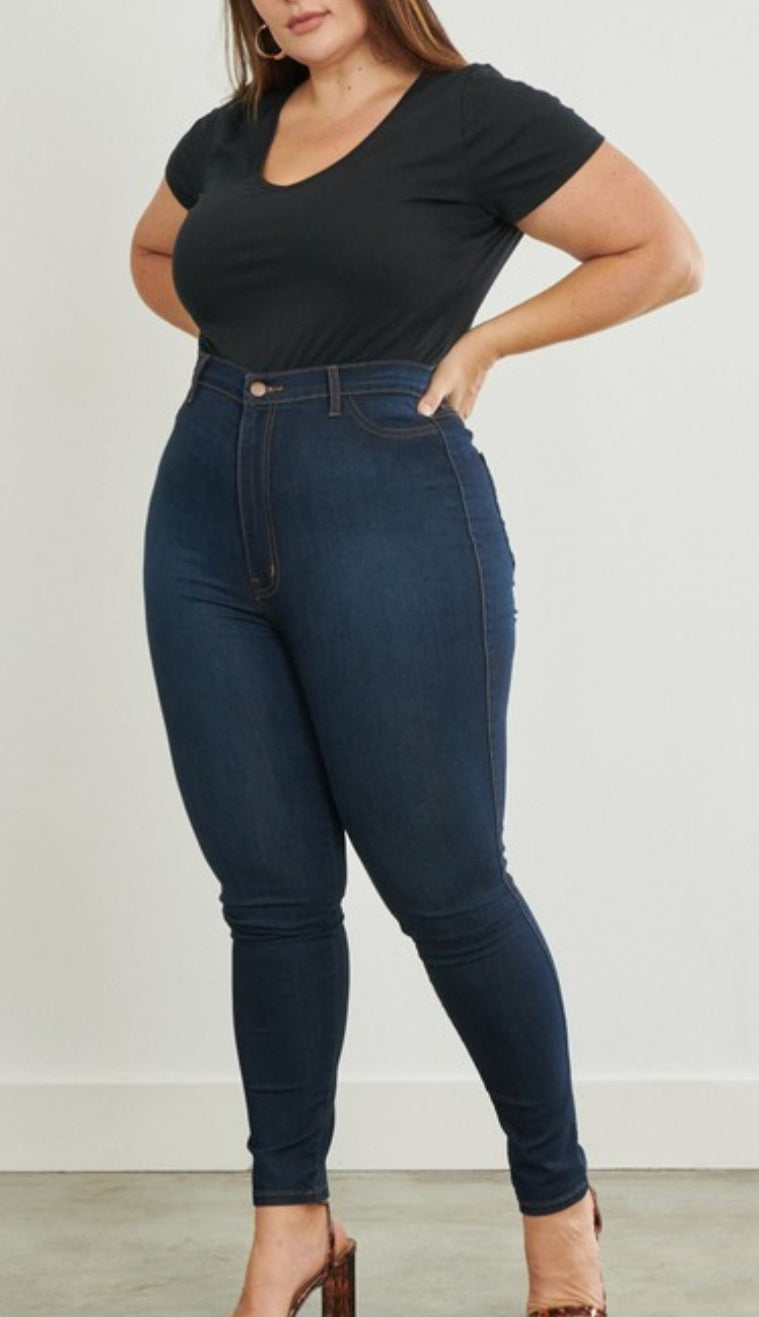 Indigo Beauty Plus Size Skinny Jeans