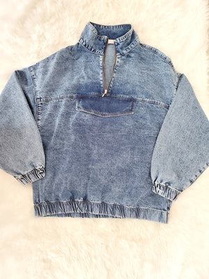 All Over Me Denim Pullover