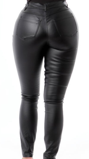 Slick At The Mouth Faux Leather Pants