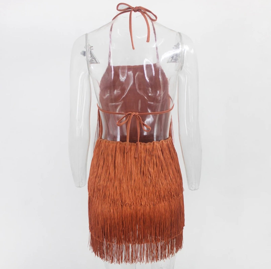 Shake A Tailfeather Mini Dress