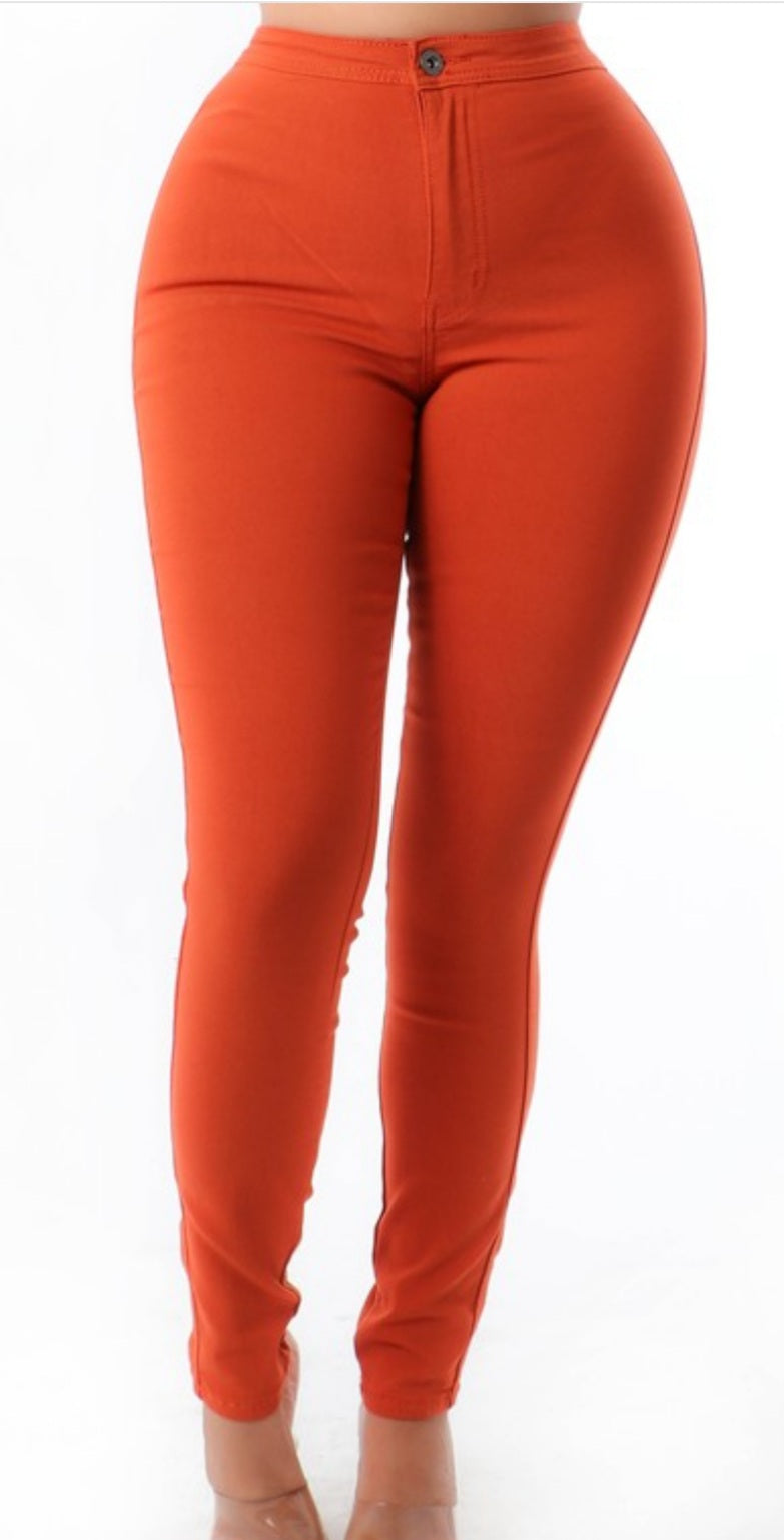 Tangerine Queen High Waist Pants