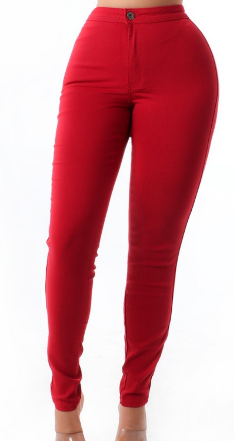 Cranberry Stiletto High Waist Pants