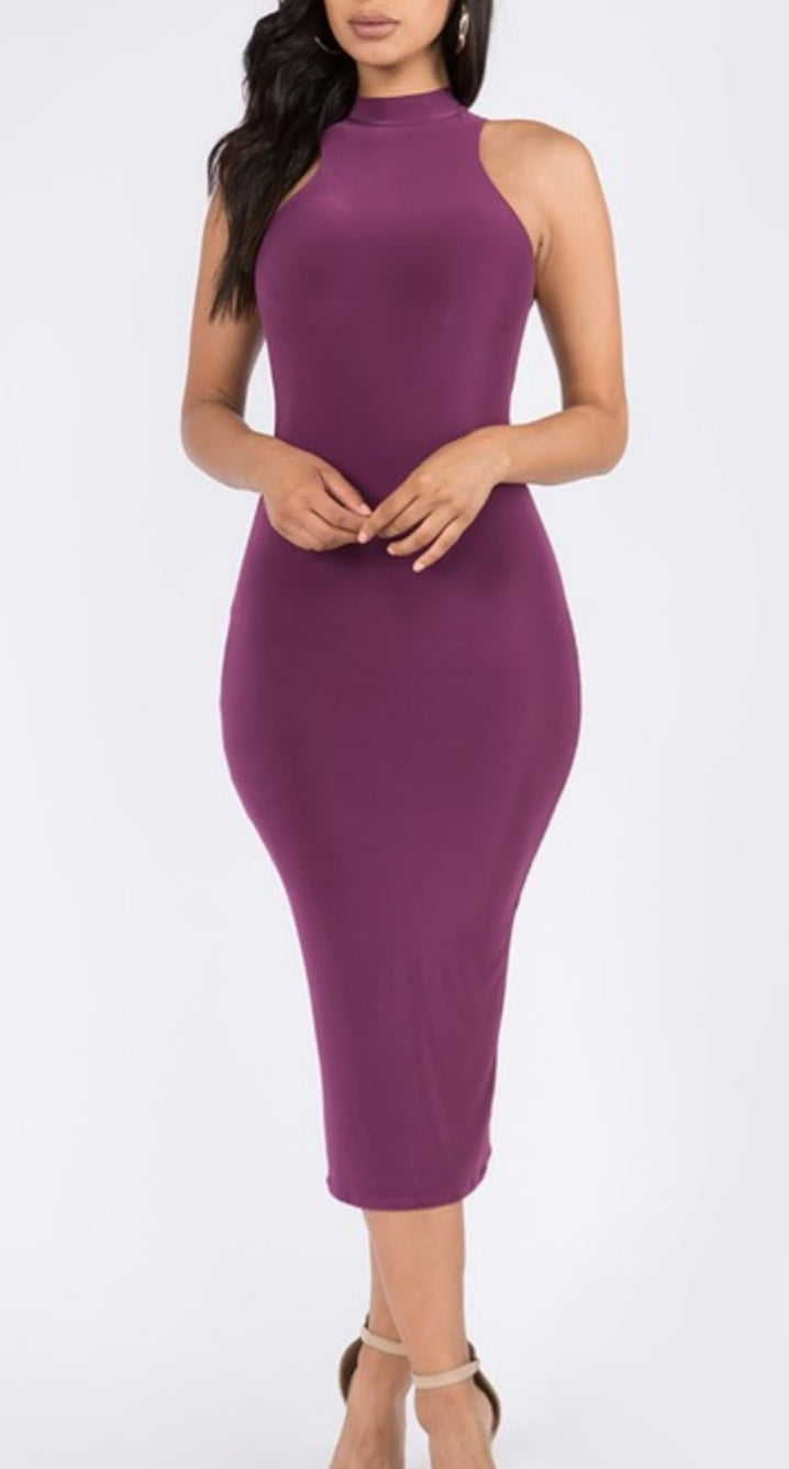 Berry Body Fitted Dress