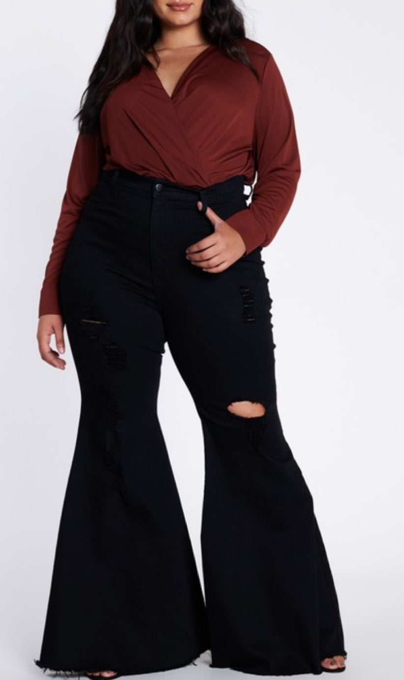 The Bells Plus Size Flare Jeans