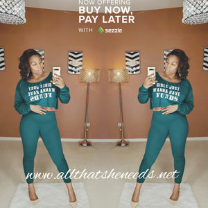 Money Maker 2 Piece Pant Set