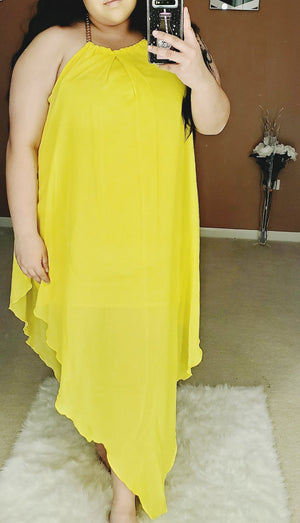 Tear Drop Chiffon Dress