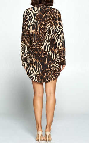 Animal In The Night Shirt Dress