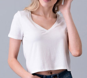 Just Basic V-Neck Top