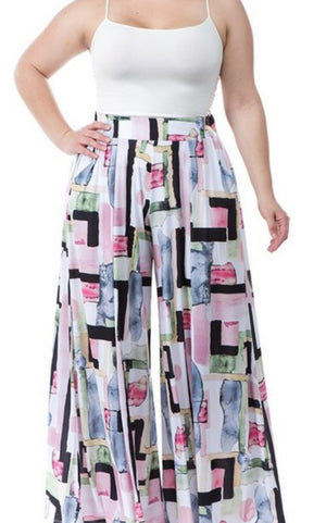 Paint Brush Wide Leg Pants