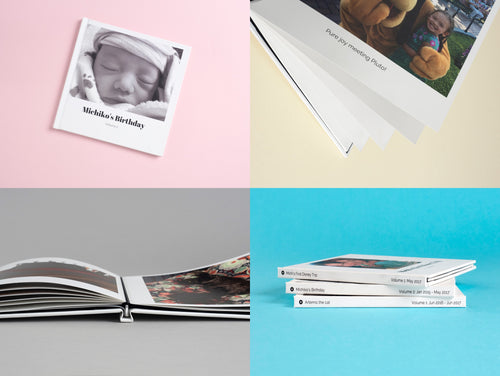Hard Cover Photo Books, 8 and 12 inch square