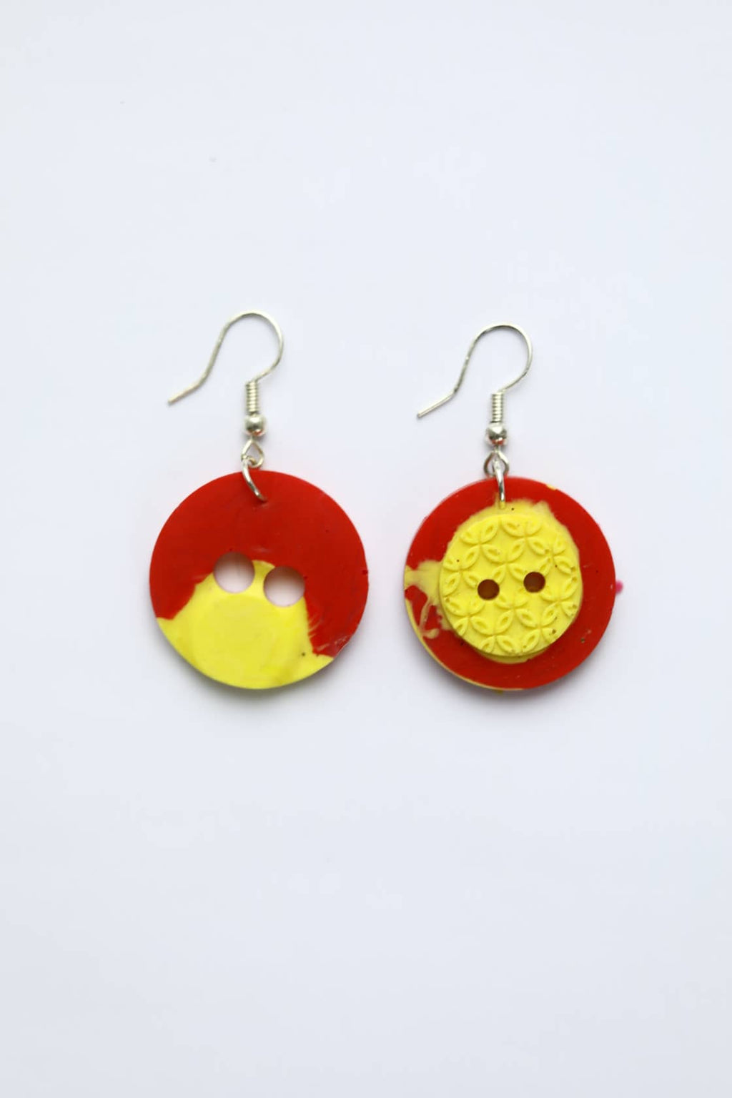 Red and Yellow Mismatched Buttons