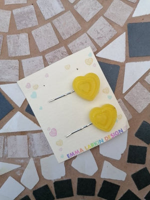 Yellow Heart Clips