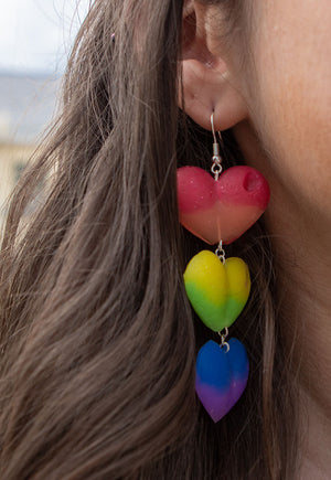 Proud of You for Dropping Your Lover Drop Love Heart Earrings
