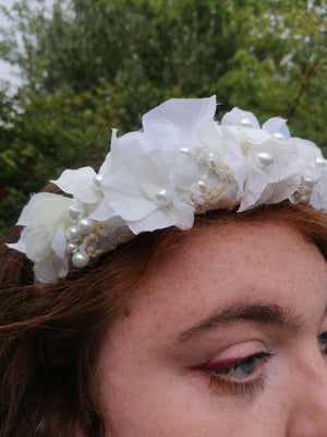 Pearl and Flower Headpiece