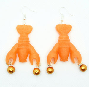 Orange Lobsters with Pearls