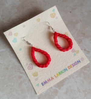 Red Little Lobe Loops