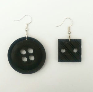 Black Round and Square Buttons