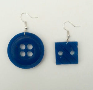 Round and Square Blue Buttons