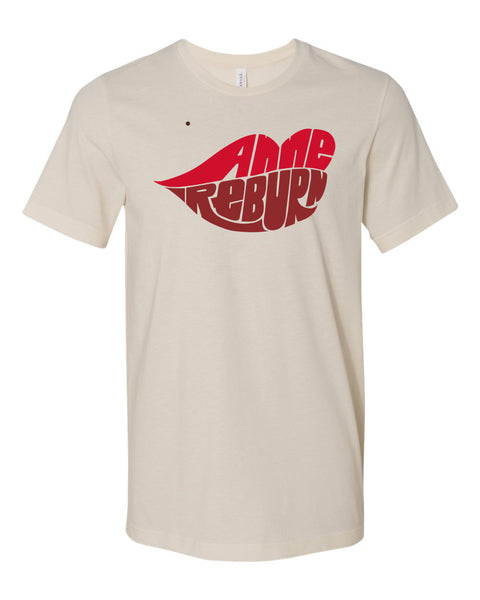 Anne Reburn logo unisex short sleeve tee soft cream