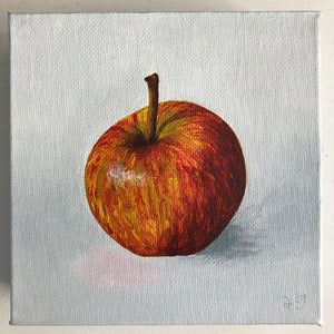 Original Acrylic Painting of a Red Apple by Amanda Gosse