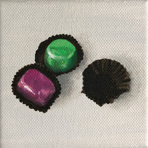 Original Oil Painting of Chocolates by Amanda Gosse