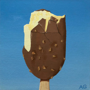 Chocolate Vanilla Feast Ice Cream Acrylic Original Painting