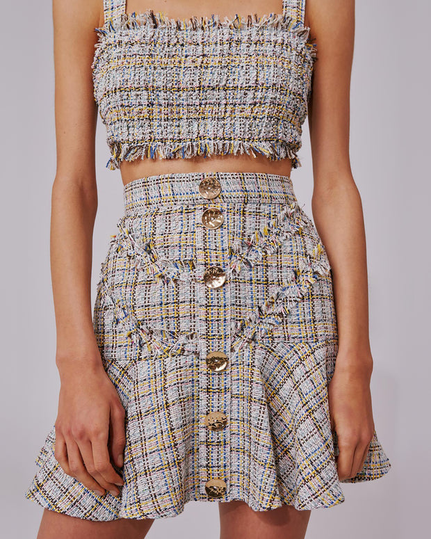 For Your Love Tweed Mini Skirt