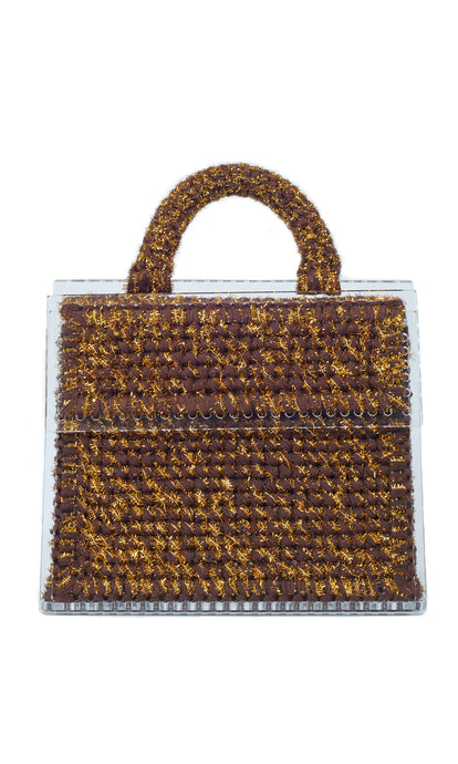 Gold & Brown Sparkly Tote Bag