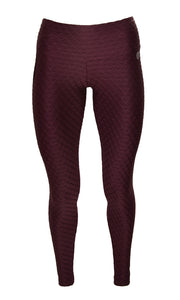 Burgundy Glow Compression Leggings