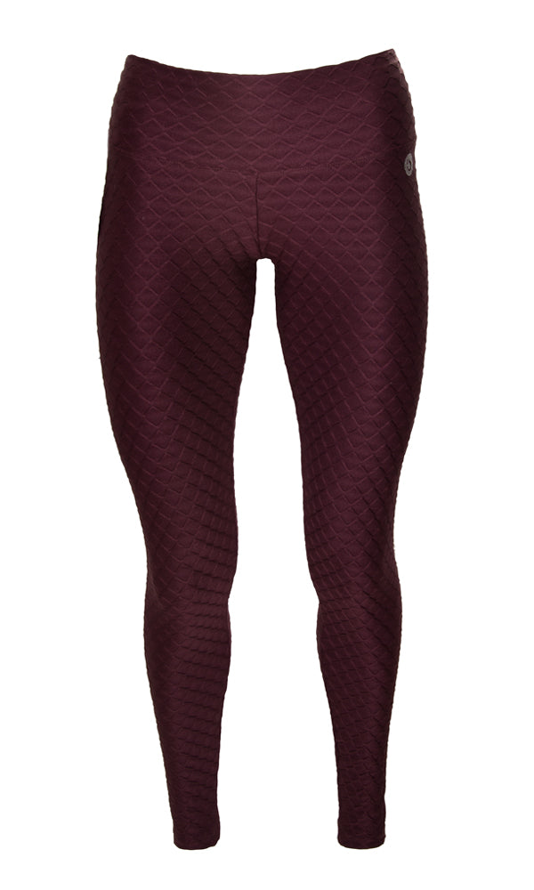 BRO FITWEAR | BLAIZ | Activewear Burgundy Glow Compression Leggings