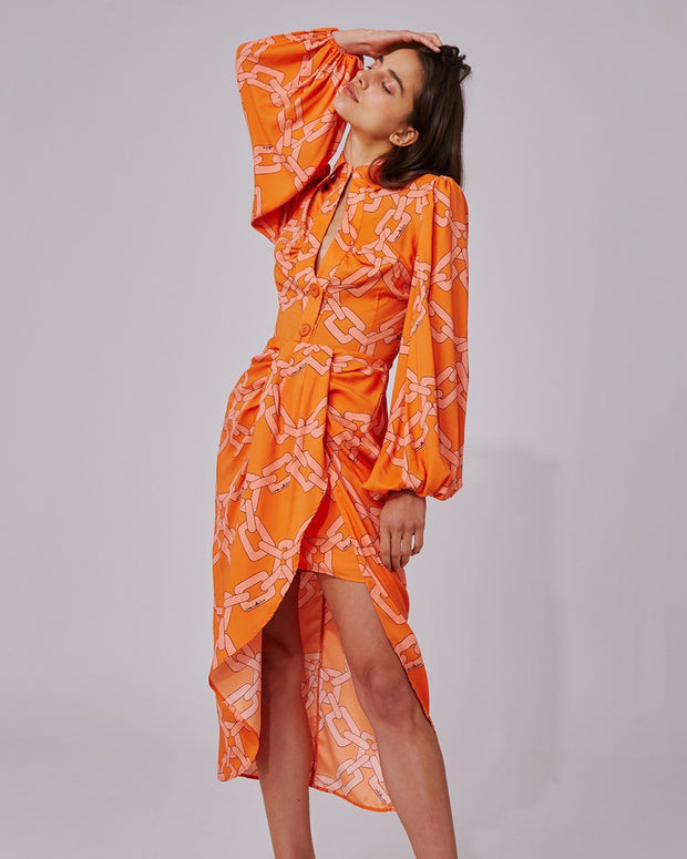 Tangerine Printed Morning Skirt